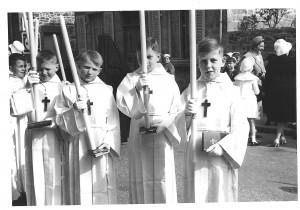1961 photo de 4 communiants