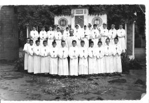1961 photo de groupe des communiants garçons et filles